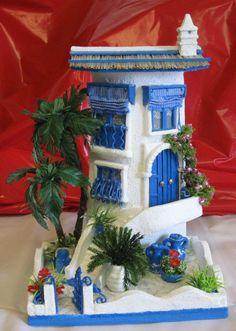 MANUALIDADES Y ARTESANIAS ELIZABETH Clay Houses, Miniature Houses, Clay Wall Art, Clay Art, Pottery Houses, Fairy Garden Houses, Roof Tiles, Decorative Tile, Tile Art
