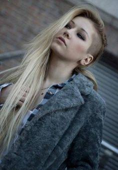 long side shaved rocker hairstyles for women - http://hairstylee.com/long-side-shaved-rocker-hairstyles-for-women/?Pinterest