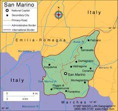 Map of san marino san marino 39 s capital is the city of san for Flights to san marino italy