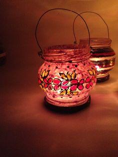 Luminária - Reciclagem Vidro Facebook - O Quintal da Jacque