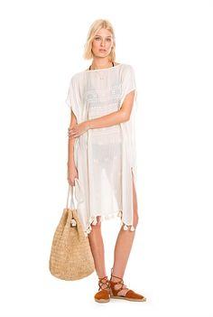 Embroidery Kaftan Summer 2015, Kaftan, Cover Up, Embroidery, Beach, Stuff To Buy, Dresses, Design, Girls