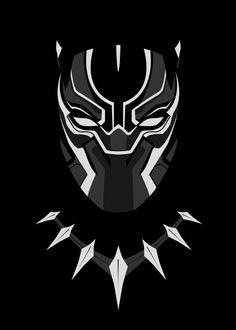 #Minimalist art of Marvel's Black Panther | Marvel | Fan Art | Black Panther | Hero
