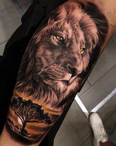 Lion Tattoo Design Men Tattoo Trends Realistic Arm Tattoo Ideas - - New Tattoo Trend Wolf Tattoos, Lion Head Tattoos, Animal Tattoos, Lion Arm Tattoo, Lion King Tattoos, Lion Shoulder Tattoo, Mens Lion Tattoo, Tattoo Forearm, Lion Sleeve