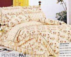 Lenjerie de pat bumbac Casa New Fashion pentru o persoana cu trandafiri