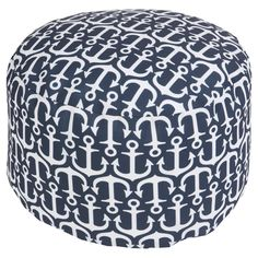 Showcasing an eye-catching anchor motif, this charming indoor/outdoor pouf brings coastal-chic style to your poolside or den. Coastal Furniture, Coastal Decor, Accent Furniture, Coastal Living, Blue Furniture, Coastal Curtains, Coastal Entryway, Coastal Farmhouse, Modern Coastal