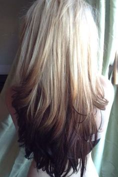 This is what I'm waiting for now. Let my hair grow out so I have dark on the bottom and my natural blonde on top. Love it