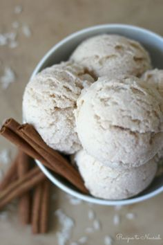 (Ad) Real Food Horchata Ice Cream is so delicious! Inspired by the Mexican agua fresca, this naturally sweetened ice cream is rice milk infused with hints of sweet cinnamon.   Recipes to Nourish   Gluten-free desserts   Real Food treats   Frozen treats   Dairy-free ice cream   Healthy treats   Summer treats    #icecream #frozentreats #realfood #dessertrecipes
