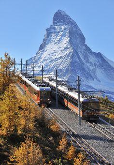 Gornergrat Railway Switerland Matterhorn (Credit: Raimund Linke/Getty)