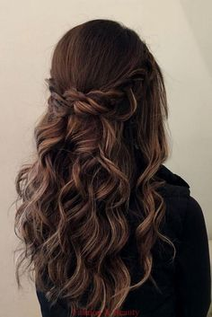 wedding hair brunette 28 Captivating Half Up Half Down Wedding Hairstyles---brunette wedding hairstyle with braids and natural curls, boho weddings, vintage weddings, spring fall and winter weddings Wedding Hair Brunette, Wedding Hair Half, Wedding Hair And Makeup, Boho Wedding, Wedding Crowns, Bohemian Weddings, Trendy Wedding, Wedding Dress, Wedding Hairstyles For Long Hair