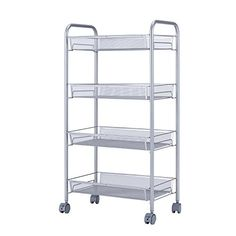 SINGAYE Utility Cart with 4 Baskets on Wheels Mesh Wire Rolling Cart Multifunction Kitchen Storage Cart Steel Wire Basket Shelving TrolleyEasy movingGrey https://portablekitchenislandsreview.info/singaye-utility-cart-with-4-baskets-on-wheels-mesh-wire-rolling-cart-multifunction-kitchen-storage-cart-steel-wire-basket-shelving-trolleyeasy-movinggrey/