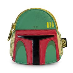 Boba Fett Green/Red Faux Leather Face Coin Bag - Coin Bags - Star Wars - Brands