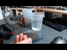 Anodizing Titanium Chainmaille using 9V batteries - YouTube