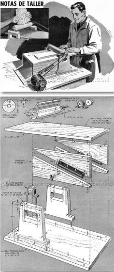DIY Thickness Sander - Sanding Tips, Jigs and Techniques | WoodArchivist.com