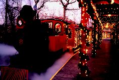 The Frisco Sing-Along Steam Train at Silver Dollar City during An Old Time Christmas