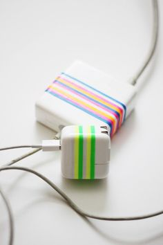 Refresh Your Mac Chargers Using Colorful Plastibands