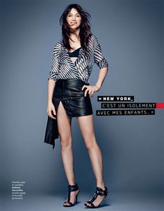 Charlotte Gainsbourg for Grazia France by Jason Kim - Anthony Vaccarello