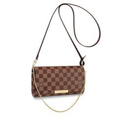 View 1 - Damier Ebene HANDBAGS Cross Body Bags Favorite PM  a292686c6a9bd