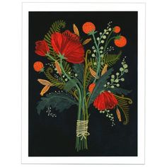 There have been many requests to get our popular Becca Stadtlander Flowers card as a larger print so we're happy to team up with the Land Gallery to bring you a