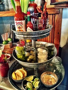 Be the Super Hero at your next bowl party by offering a bloody mary bar. Check out our Bloody Mary Recipes along with our other game day recipes and enjoy the game. Bloody Mary Bar, Bar Drinks, Yummy Drinks, Beverages, Ideas Party, Fiesta Party, Birthday Breakfast, Breakfast Tailgate Food, Day Of Dead
