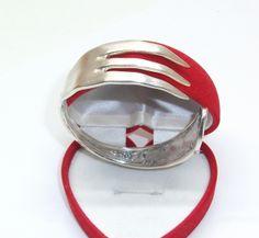 Antiker Gabelarmreifen  Silberarmreifen 328 von Atelier Regina auf DaWanda.com
