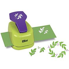 McGill Designer Leaf Spray Lever Punch - leaves and berries for wreaths, garlands, sprays, etc.