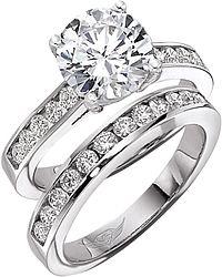 FlyerFit Round Brilliant Channel-Set Diamond Engagement Ring