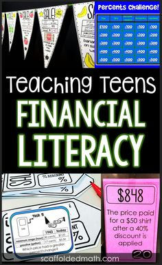 Teaching Teens Financial Literacy Looking for activities to teach teens financial literacy? In this post I share some of the activities I use to teach my consumer math class, including a few few resources to get started teaching financial literacy today. Educational Websites For Kids, Educational Games, Consumer Math, School Jobs, Teaching Math, Teaching Economics, Special Education Teacher, Financial Literacy, Math Classroom