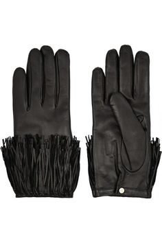 Diane von Furstenberg | Fringed leather gloves | NET-A-PORTER.COM