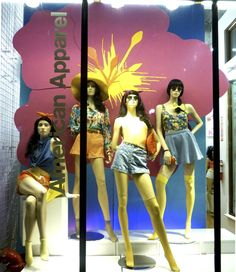 Florals window display at our store in Pasadena, California. Display by Will.  #aastores #merchandizing #window #display