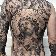 Precise and Elegant Tattoos by Matt 'Skinny' Bagwell Back Tattoos For Guys, Full Back Tattoos, Great Tattoos, Chicano Tattoos, Irezumi Tattoos, Body Art Tattoos, Geisha Tattoos, Back Piece Tattoo, Pieces Tattoo