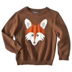 Jack will be wearing this Cherokee® Infant Toddler Boys Fox Sweater on Thanksgiving.