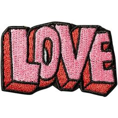 Stoney Clover Lane Women's Embroidered Love Sticker Patch (37 DKK) ❤ liked on Polyvore featuring accessories and stoney clover lane