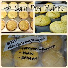 mini corn dog muffins - freezer meals