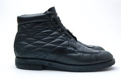 Buttery Black Leather Lace Up Bally Ankle Boots by SureShopVintage
