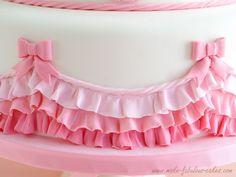 Pink Ombre Ruffles Baptism Cake Tutorial