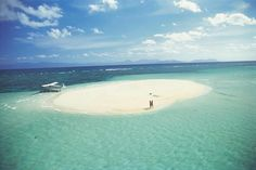 Sand cay on the Whitsunday Islands- just off the central coast of Queensland