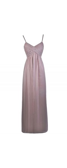 Lily Boutique Part of the Bridal Party Chiffon Maxi Dress in Pale Mink, $70 Mink Purple Grey Taupe Maxi Bridesmaid Dress | Juniors Maxi Prom Dress www.lilyboutique.com