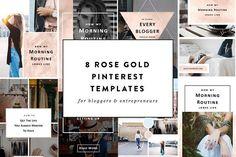 Free Pinterest Templates , Pinterest Templates, free blogging resources, @creativemarket, Affiliate Link