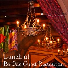 Lunch at Be Our Guest Restaurant #WaltDisneyWorld #DisneyFood