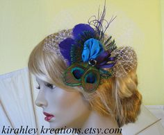 CAPRICE II with Russian Birdcage Veiling  by KirahleyKreations, $56.00