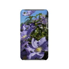 Periwinkle Clematis iPod Touch Case  Periwinkle purple clematis vine climbs right off this iPod touch case