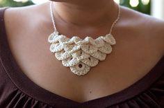 Cream Petal Necklace