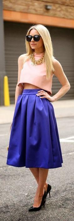 French Blue Skirt.
