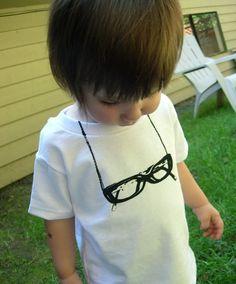 2cea805dc7f Funny toddler tshirt Nerd glasses screen by katyandzucchini