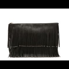 Host PickSassy Fringe Clutch New with tag! Could easily be dressed up or down. Perfectly on trend. Deux Lux Bags Clutches & Wristlets
