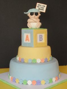 """New Kid on the Block""    Baby Shower Cake"