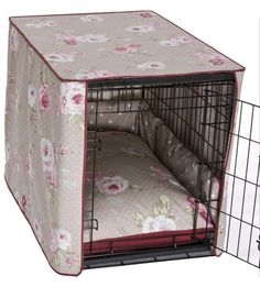 Elegant dog crate covers. Yess need this for the massive crate we have in our bedroom looking all ugly!