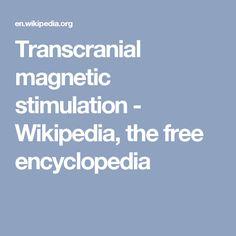 Transcranial magnetic stimulation - Wikipedia, the free encyclopedia