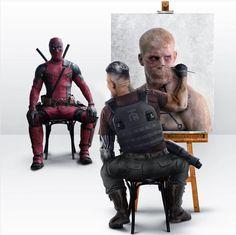 Deadpool 2: Una doble penetración de diversión Deadpool Art, Deadpool Painting, Deadpool 2 Poster, Deadpool Stuff, Josh Brolin, Comic Movies, Comic Books Art, Comic Art, Dead Pool