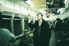 David Bowie on the subway